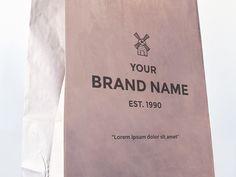 FREEBIE: Paper Bag Mockup by AlienValley