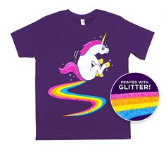 LOL - if only worn once - a clear sign of bad taste... Luv it. // BUTT DRAGGING UNICORN T-SHIRT