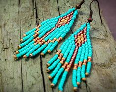 4Tribal Beaded EarringsTribal Seed Bead by NativeStyles on Etsy