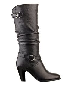 Black Long High Heel Boots | Magy Slouch Boots | GUESS.ca