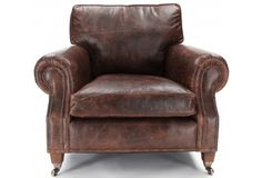 Hepburn | Vintage Leather Armchair from Old Boot Sofas