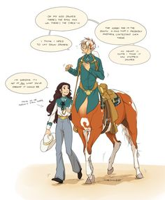 Sawyer and Aerick centaur Magical Creatures, Fantasy Creatures, Anime Manga, Anime Art, Performance Artistique, 4 Panel Life, Cute Comics, Mythological Creatures, Cool Drawings