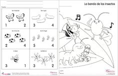 Spanish Coloring and Activity Sheets – Insectos {Printable} SpanglishBaby.com
