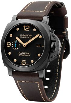 Panerai Luminor Marina 1950 Carbotech 3 Days Automatic PAM661 Watch - by Zen Love - learn all about it now on aBlogtoWatch.com Among Panerai's sudden heap of new models today, the Panerai Luminor Marina 1950 Carbotech 3 Days Automatic PAM661 watch... is immediately and obviously distinguished by it's black carbon case with a wooden grain-like pattern, but there are also some interesting details to note as well as an updated movement...""