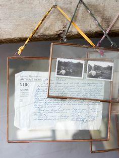 Aged Copper Hanging Photo Frames (Landscape