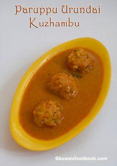 Paruppu Urundai Kuzhambu Ready