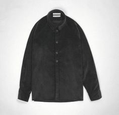 Nearly-Black Corduroy Raglan Shirt — S.E.H Kelly — Clothes Made In England And The British Isles