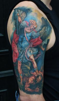 Download Free Tattoos Page 1 St Michael Tattoo Healed To Use And Take