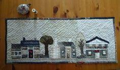 Houses Houses Houses Yoko Saito   En sortant de l'école - Page 18 - En sortant de l'école Yoko Saito, Patchwork Quilting, Applique Quilts, Salt Box, Japanese Quilts, Box Houses, House Quilts, Sunbonnet Sue, Quilted Bag