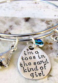 LivingSocial Shop: 'I'm a Toes in the Sand Kind of Girl' Bracelet