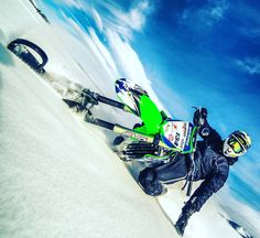 @keithsayers on the #snowbike #timbersled