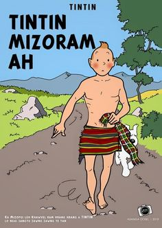 Les Aventures de Tintin - Album Imaginaire - Tintin Mizoram Ah