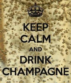 happy new year 2014! Keep calm and drink champagne :)