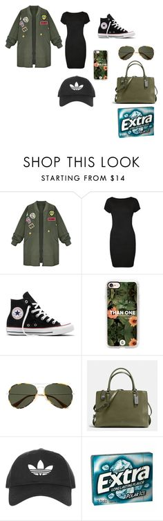 """Untitled #45449"" by iambri-bri-4life ❤ liked on Polyvore featuring WithChic, WearAll, Converse, Casetify, Witchery, Coach, Topshop and Wrigley's"