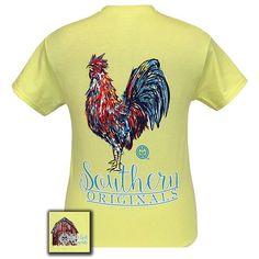 Cockadoodle water colored rooster! #girliegirloriginals #southerntees #preppytees #cutetees