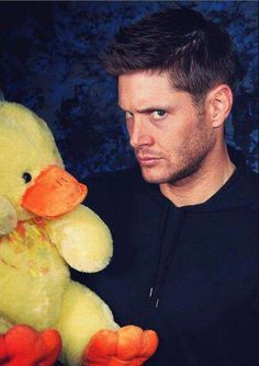 Jensen Ackles with a stuffed duck.  Your argument is invalid.