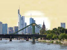 'Frankfurt am Main - Abend' von Dirk h. Wendt bei artflakes.com als Poster oder Kunstdruck $18.03