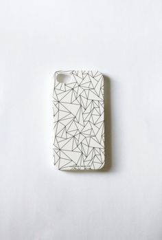 Winter Holiday SALE: Geometric Phone Case. Whimsy black and white Gadget Accessory. Geekery Unisex gift for men and women