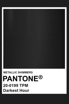 Darkest Hour #Metallic #Pantone #Color Pantone Colour Palettes, Pantone Color, Color Of Life, Color Of The Year, Color Patterns, Color Schemes, Flat Sketches, Benjamin Moore Colors, Fade To Black