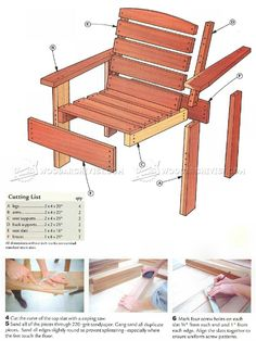 #3079 Deck Chair Plans - Outdoor Furniture Plans