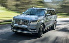 Télécharger fonds d'écran 4k, Lincoln Navigator, en 2018, le grand SUV de luxe, voitures neuves, bleu de navigation, des voitures Américaines, Lincoln