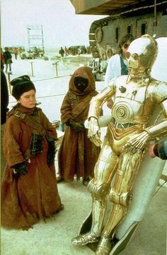 The Jawas in Star Wars were played by children.