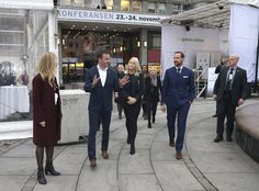 Royals & Fashion - Prince Haakon and Princess Mette Marit attended an environmental conference in Oslo.