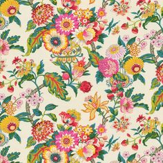Candy-Colored Chinoiserie Fabric Vased It Honeysuckle