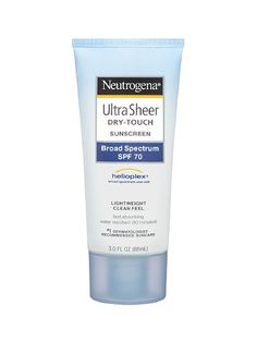 Neutrogena Ultra Sheer Dry-Touch Sunscreen Broad Spectrum SPF 70