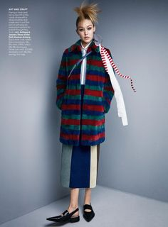 "Duchess Dior: ""Graphic Design"" Gigi Hadid for Vogue US November 2015"