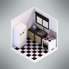 Low Poly on Behance. I'm so excited to learn to use Blender more effectively. Now I want to model my apartment!
