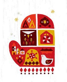 mitton - イラストレーター スズキトモコ|tomo-com.com Christmas Love, Christmas Design, Pom Pom Animals, Christmas Phone Wallpaper, Xmax, Ipad Art, Folklore, Graphic Design, Seasons