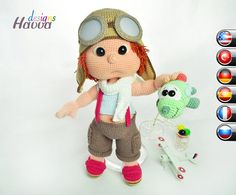 Pattern  Tommy With Aviator Costume от HavvaDesigns на Etsy