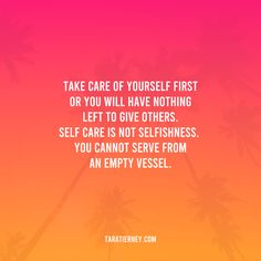 Take care of yourself first or you will have nothing left to give others. Self care is not selfishness. You cannot serve from an empty vessel. #selfcare #entrepreneur #entrepreneurquotes #lifequotes #selflove #personaldevelopment #selfgrowth #boundaries