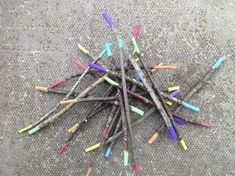 rainbow math sticks: each color is assigned a numerical value, then you add what you pick up, or you can assign colors place value Forest School Activities, Nature Activities, Learning Activities, Summer Activities, Teaching Resources, Outdoor Education, Outdoor Learning, Outdoor Play, Outdoor Classroom