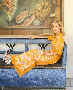 Tory opens up about the new collection and caftan style.