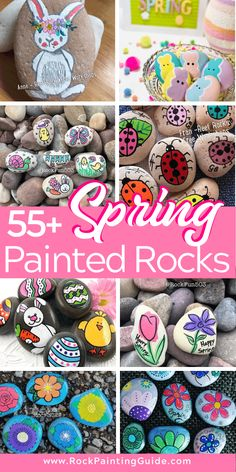 Get inspired with these easy spring crafts painted rock ideas. Patrick's Day crafts, Easter bunny crafts, and more! party ideas for adults inspiration easy diy Easy spring Crafts - Painted Rock Ideas To Inspire You Rock Painting Patterns, Rock Painting Ideas Easy, Rock Painting Designs, Painting For Kids, St. Patrick's Day Diy, Stone Crafts, Rock Crafts, Arts And Crafts, Bunny Crafts