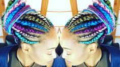 Rainbow Ghana Cornrows | NOISM braids