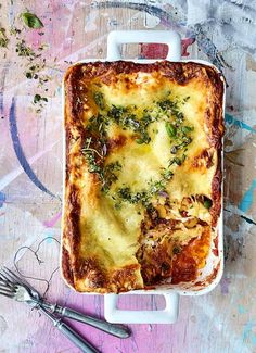 Paras lasagne - Reseptit - Helsingin Sanomat Good Food, Yummy Food, Rice Recipes, Quiche, Feta, Risotto, Food And Drink, Cooking, Breakfast