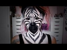Zebra Makeup Tutorial - ShelingBeauty - YouTube