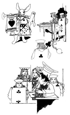 """Illustrations for """"Alice's Adventures in Wonderland"""" (1907) by Charles Robinson"""