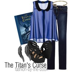 Outfit inspired by The Titan's Curse by Rick Riordan (Percy Jackson & the Olympians series)