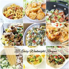 25 Easy Weeknight Dinner Recipes | Great dinner ideas for those busy weeknights!