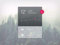 Weather UI with a. Material Design sauce and a. Web Inspiration, Graphic Design Inspiration, Ui Ux Design, One Design, Fluent Design, Ui Components, Ui Web, Screen Design, Interactive Design