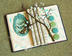 Love the altered book.....3-D effect.
