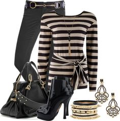 """Striped Top Contest"" by brendariley-1 ❤ liked on Polyvore"
