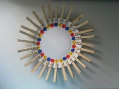 A clothespins Alphabets Plate | Arabic Playground