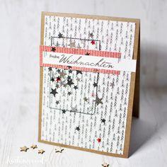 Kartenwind : Weihnachtskarte mit dem Kartensketch #5 der Weihnachtskarten-Sketchwoche von www.danipeuss.de #kartenwind #danipeuss #embossing #weihnachtskarte #weihnachtskartensketchwoche #sterne #christmas #christmascard #xmas #cardmaking #kartenbasteln #stempel