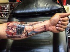 Jesus arm tattoo Done by Blacky Blacky's tattoo studio