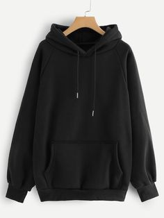 To find out about the Raglan Sleeve Kangaroo Pocket Hoodie at SHEIN, part of our latest Sweatshirts ready to shop online today! Hoodie Sweatshirts, Hoody, Sweater Hoodie, Plain Sweatshirts, Mode Kpop, Trendy Hoodies, Cool Hoodies, Casual Outfits, Sweatpants Outfit